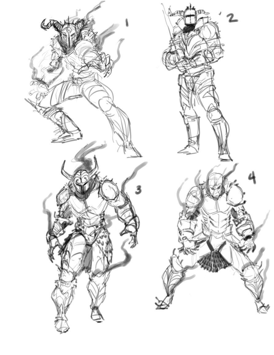 Animated Armor Sketches
