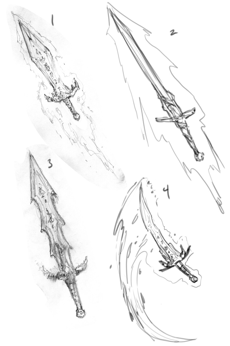 Animated sword Sketches