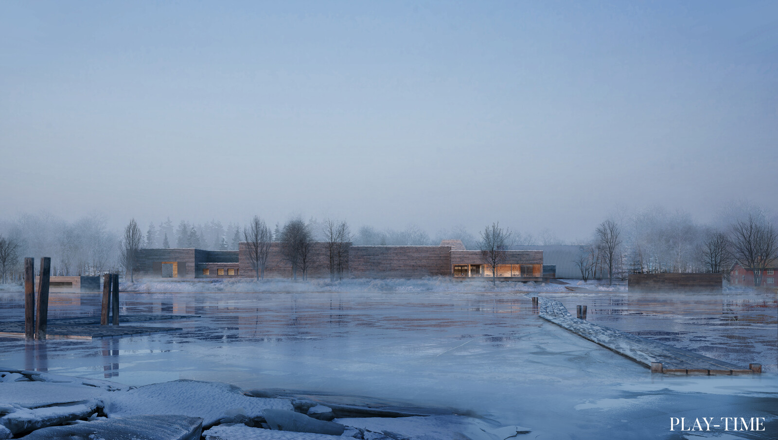 MIA Museum in Akershus, Norway. Log driving museum designed by NOMO Studio. Image by Play-time