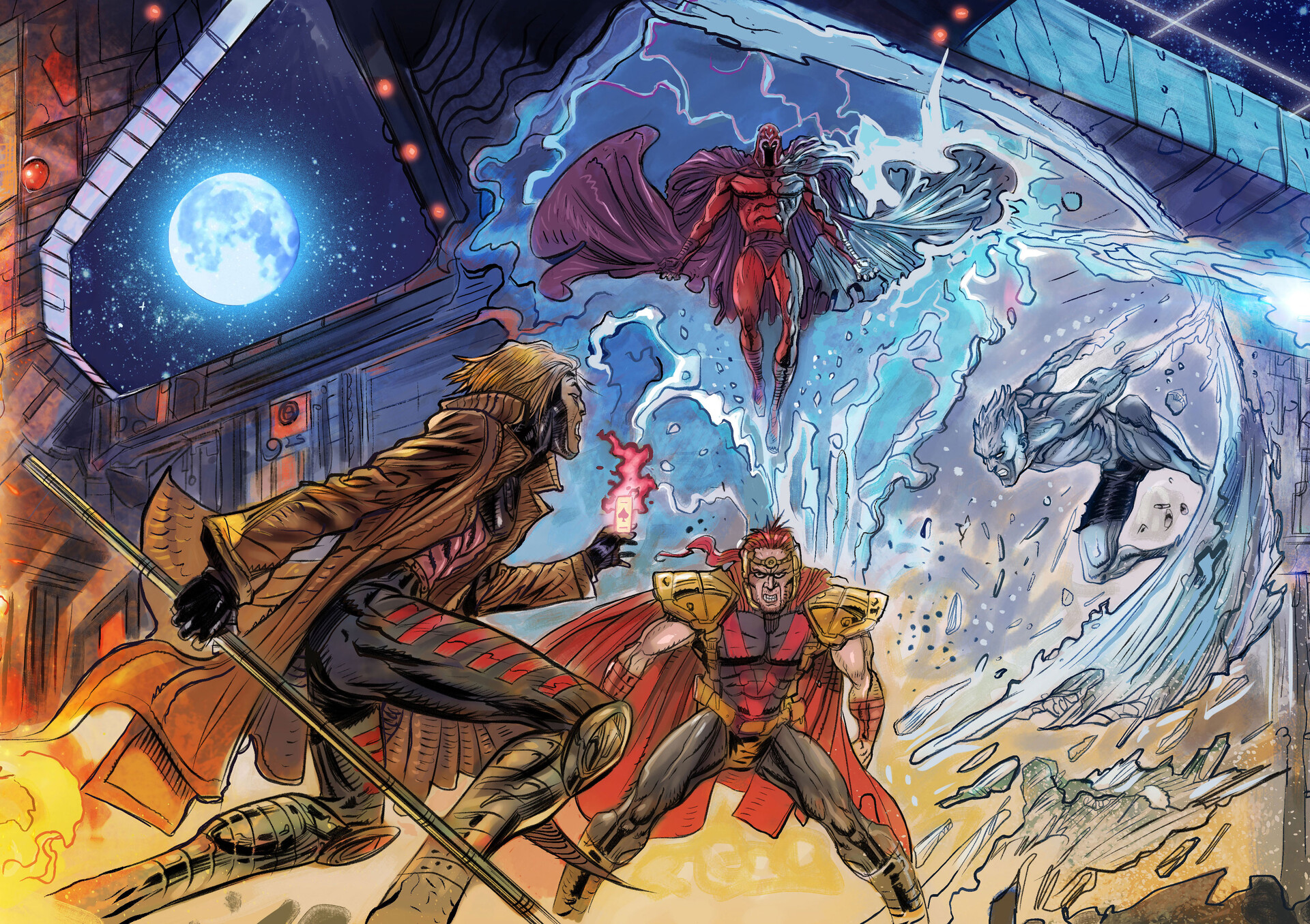 X-Men - Mutant Insurrection: Magneto Showdown (panel 2 of 4)