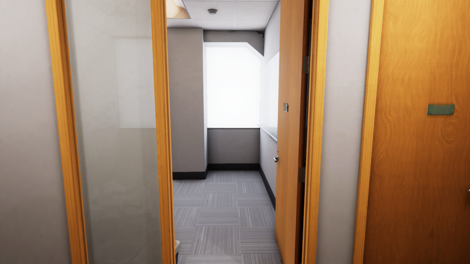 One of the empty offices