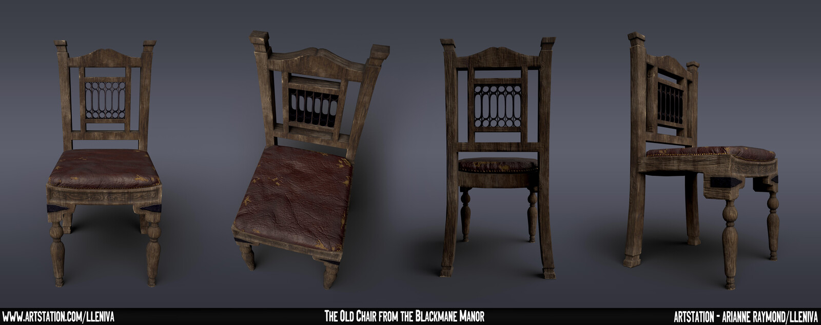 Here are multiple renders of the chair from different angles