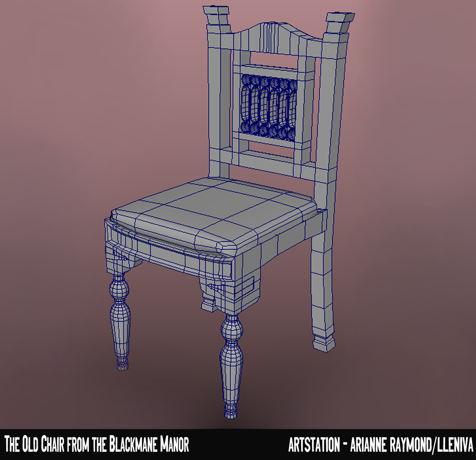 I tried to keep the chair to the lowest level of poly possible