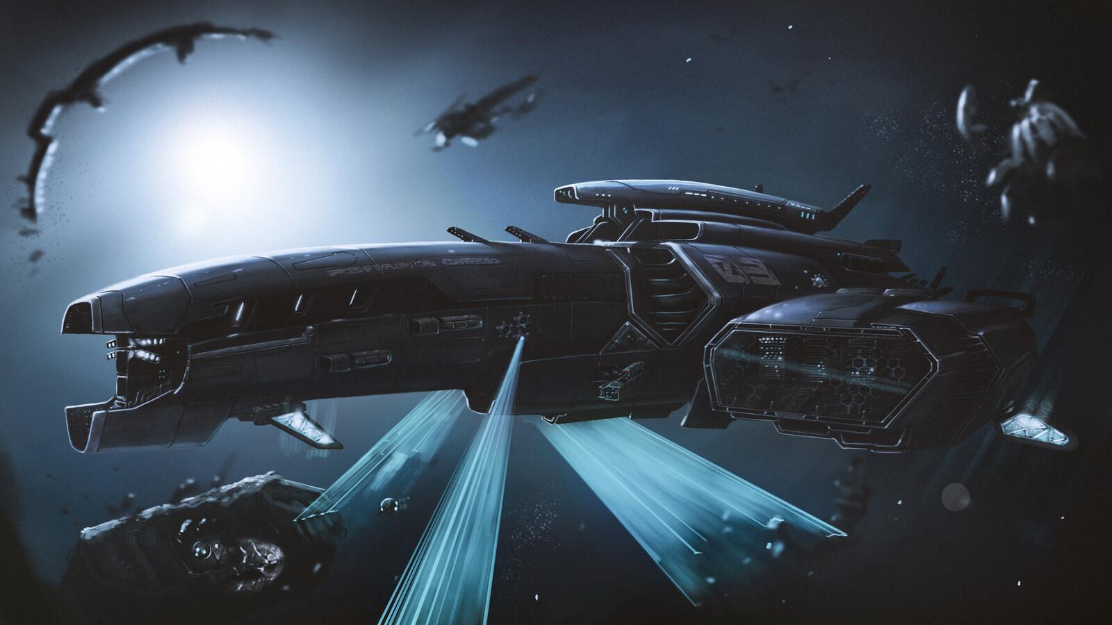 """""""Coraggiosso"""" spaceship"""