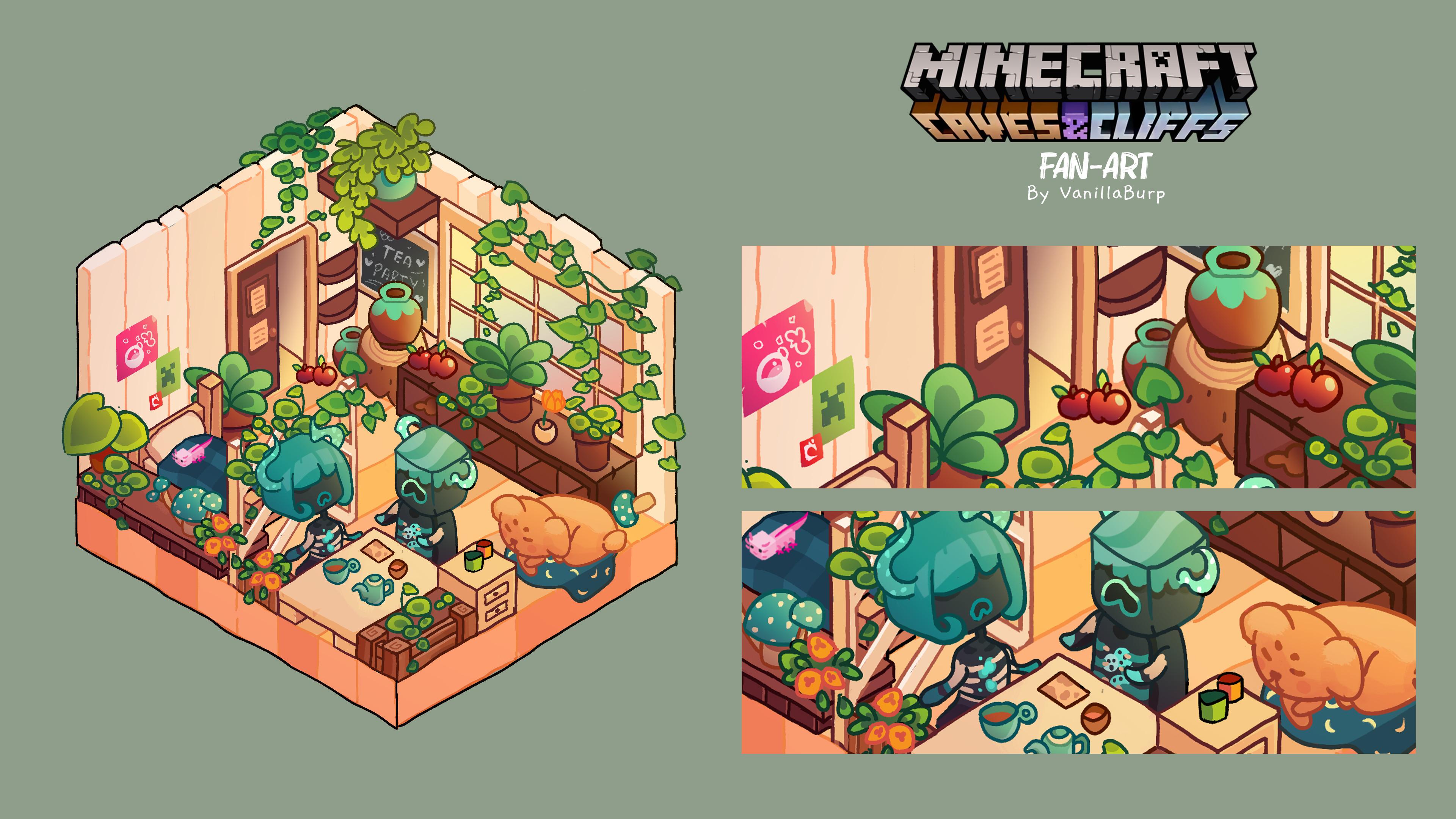 Quiet Tea Time [Minecraft Caves & Cliffs Fan-Art]