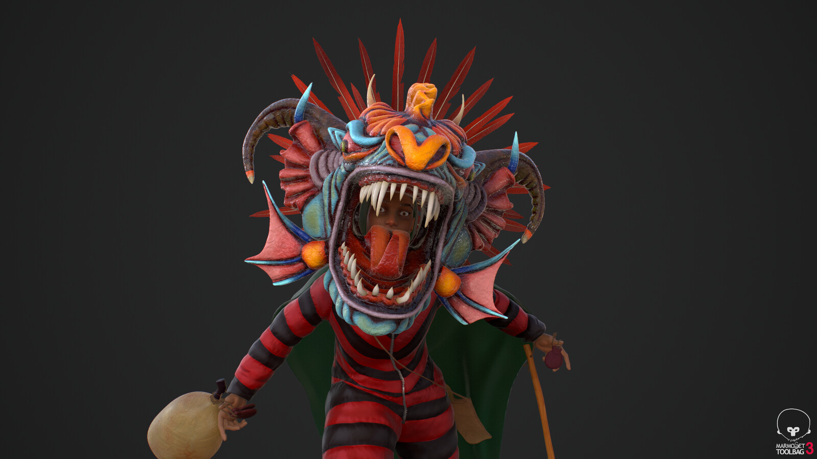 Diablico Sucio 3D Character