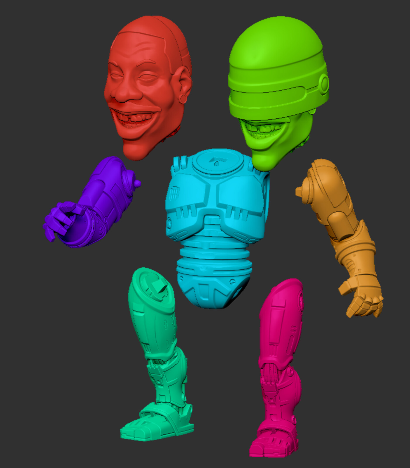 Zbrush Parts for Print