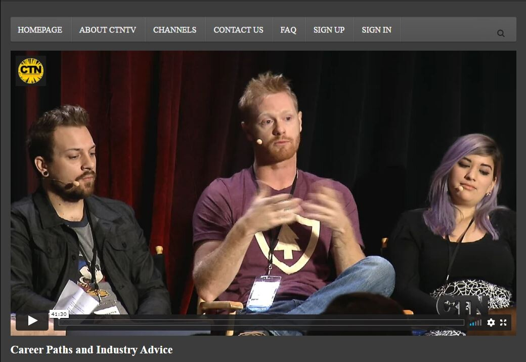 CTN Panel 2017 : https://tv.creativetalentnetwork.com/career-paths-and-industry-advice