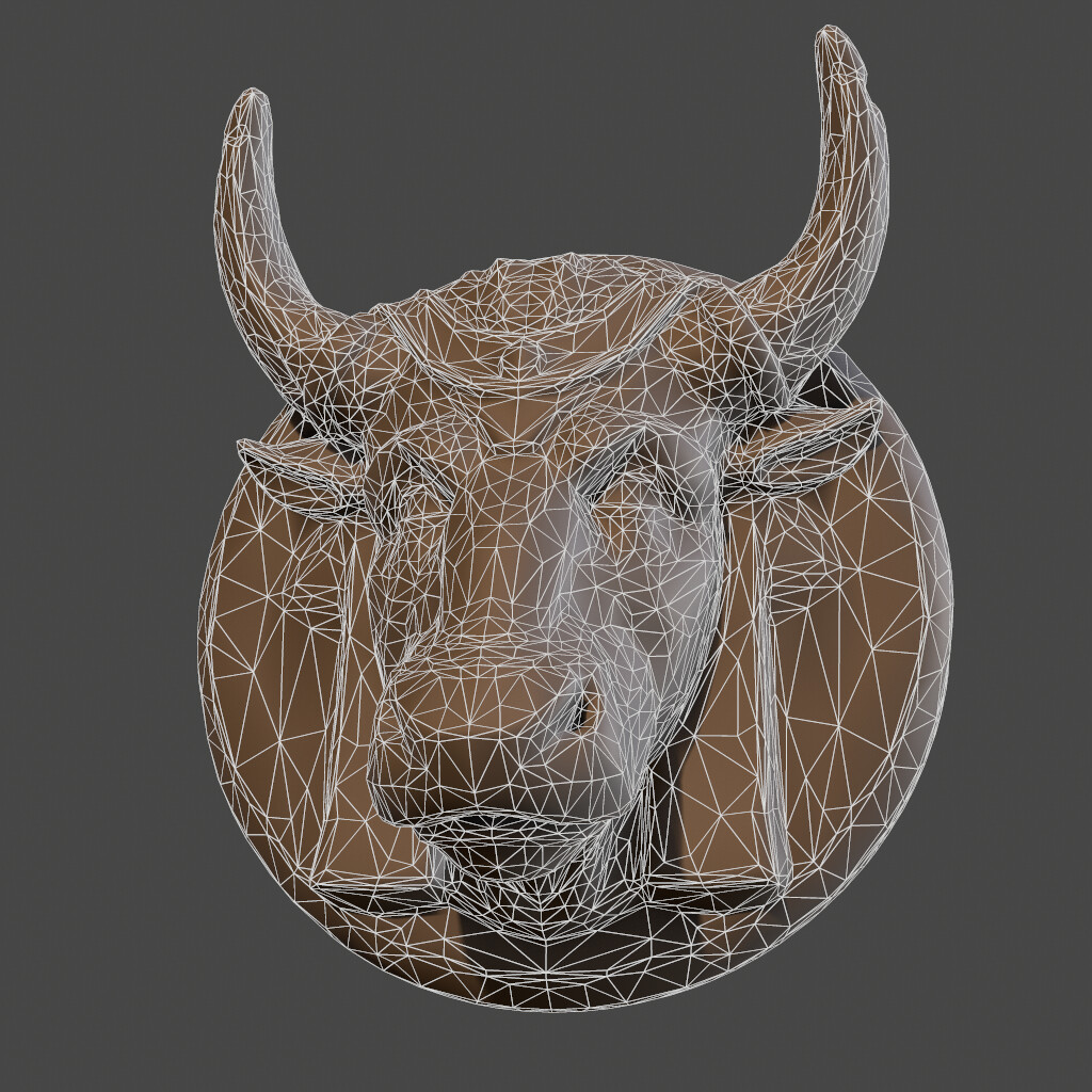 Bull head wireframe