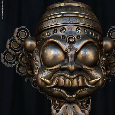 Surajit sen 1 maskk2 5 digital sculpture surajitsen nov2020al1