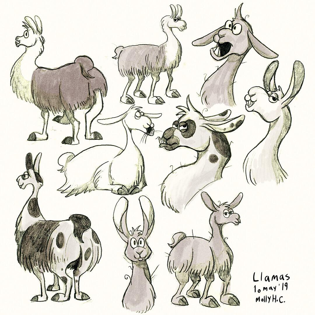Llama Character Concepts (2019)