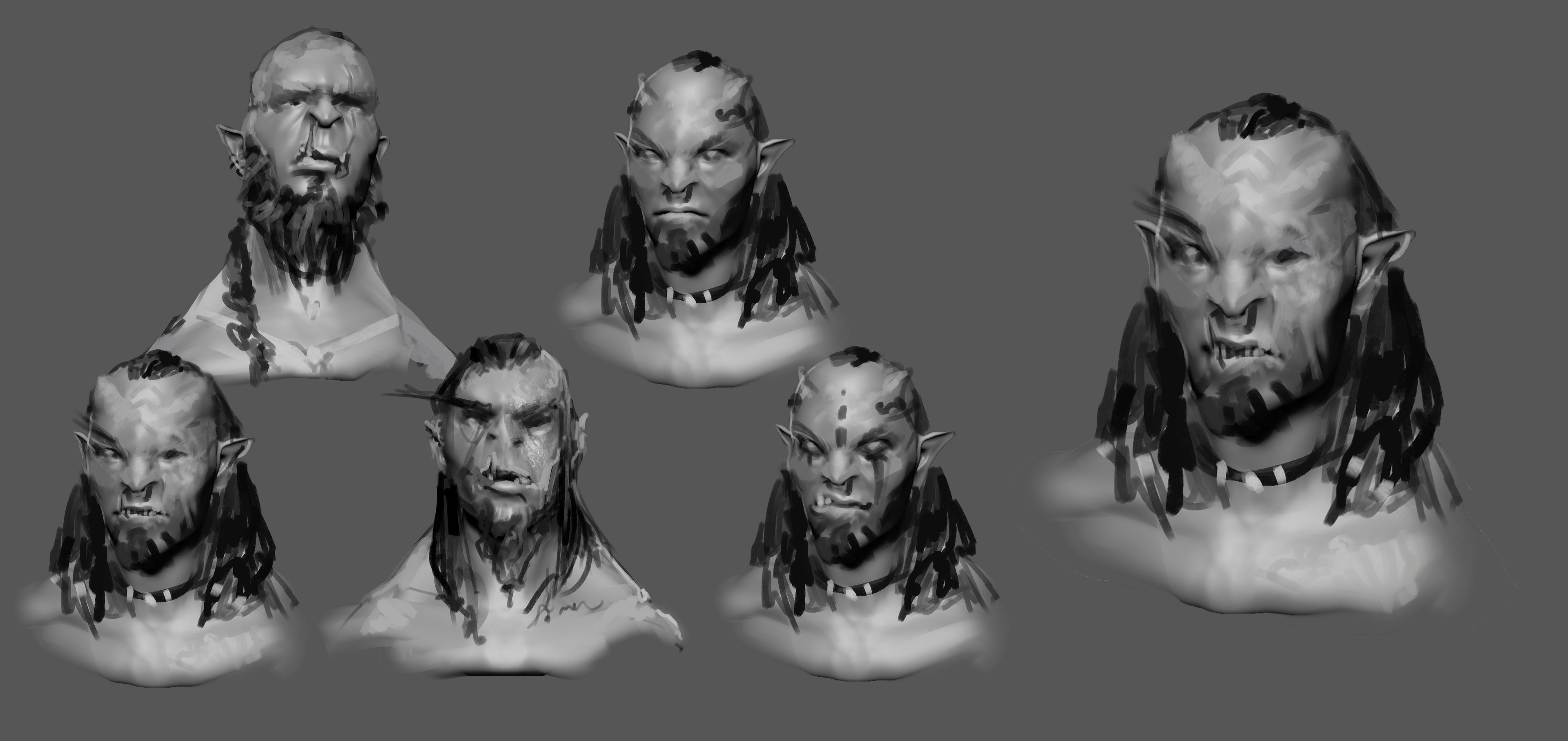 Exploration Over Initial Sculpt