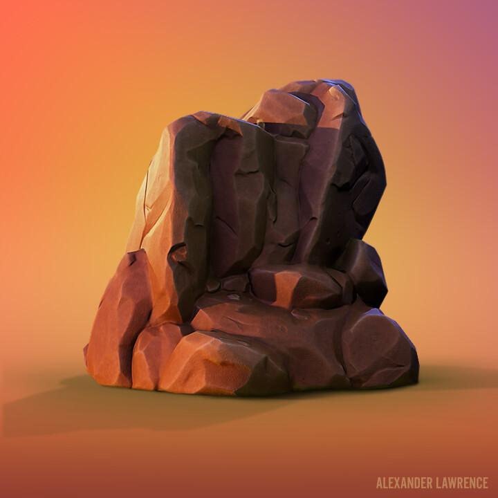 Hyperblade - Stylized Boulder