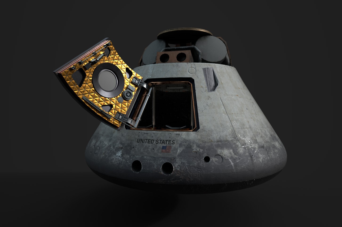 Model of a capsule for an animation I am working on in UE4