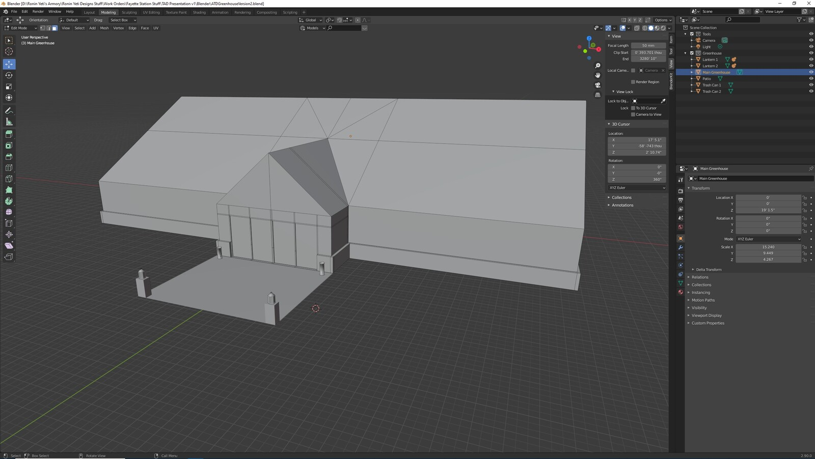 The other angle for the TAD Presentation Greenhouse (Whitebox version)