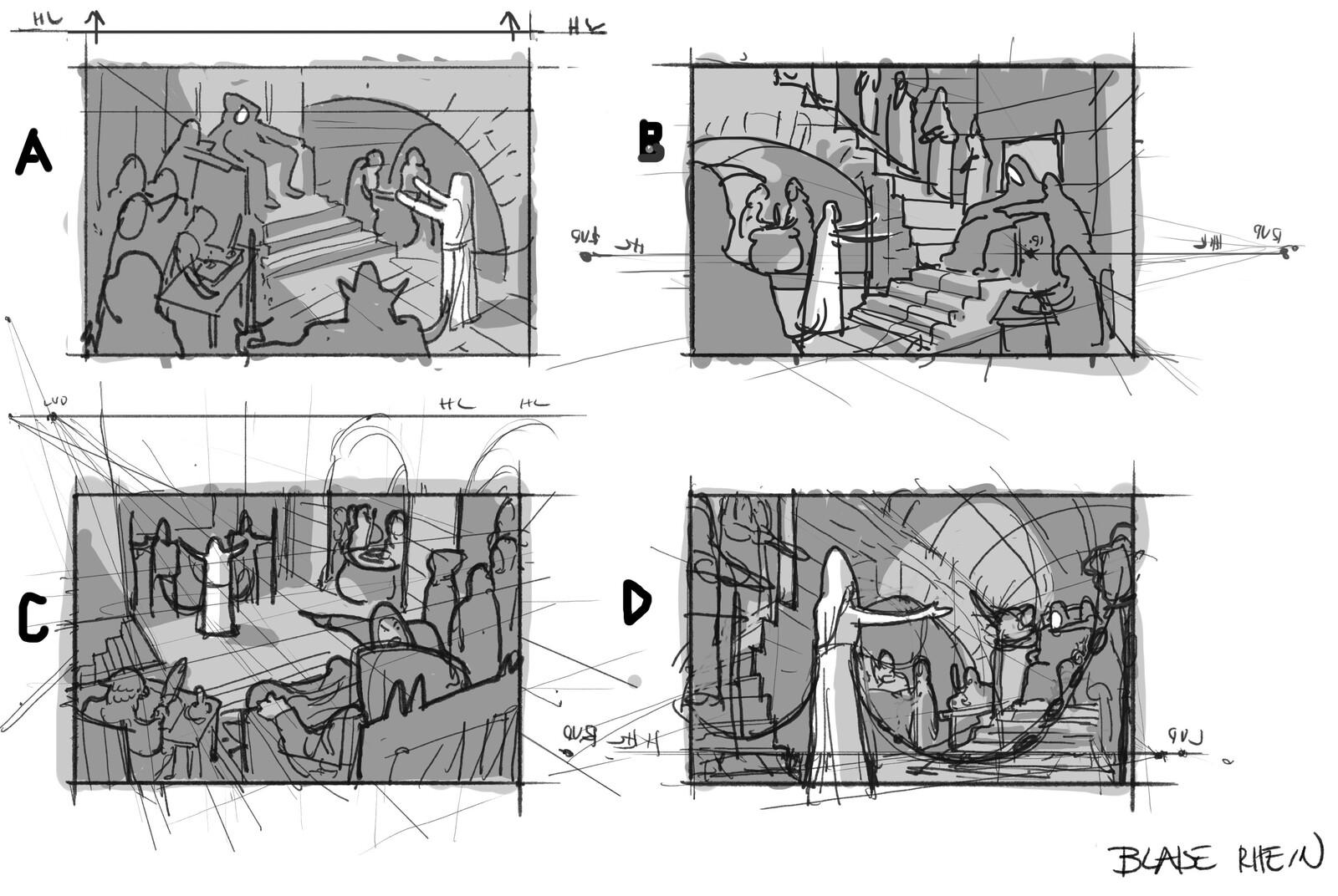 Digital Thumbnail Sketches