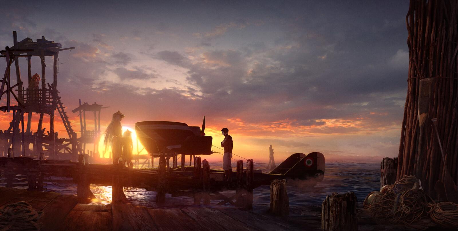 The fisherman village