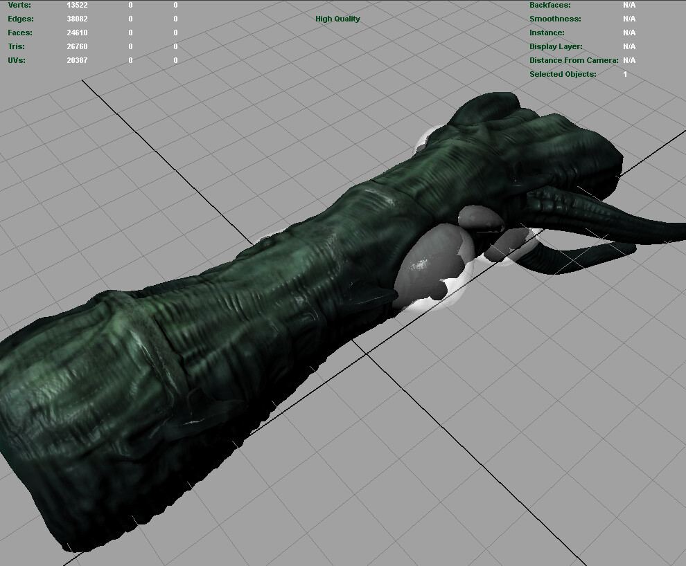 Tentacle - real time model