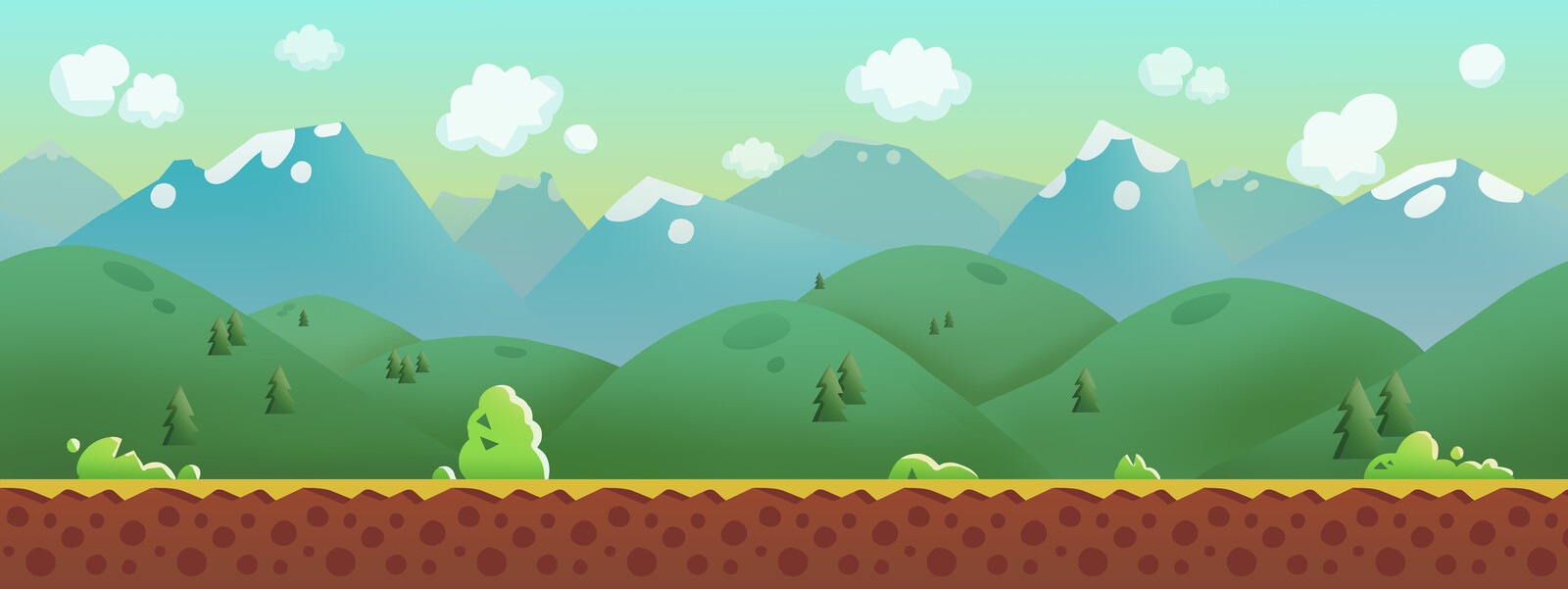 2D side-scroller - backgrounds assets