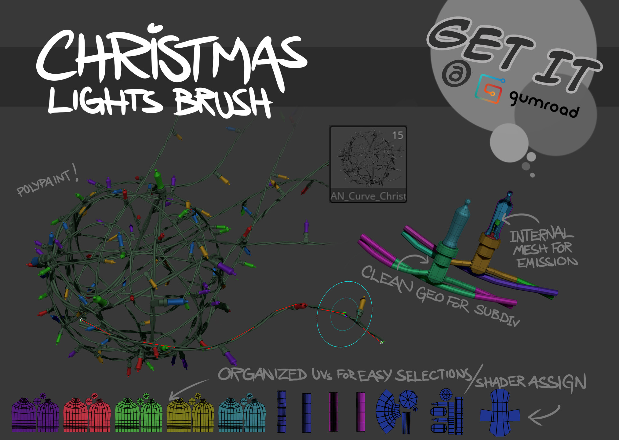 Free Brush Christmas Lights https://gumroad.com/l/ClayBear_BRUSH_ChristmasLights