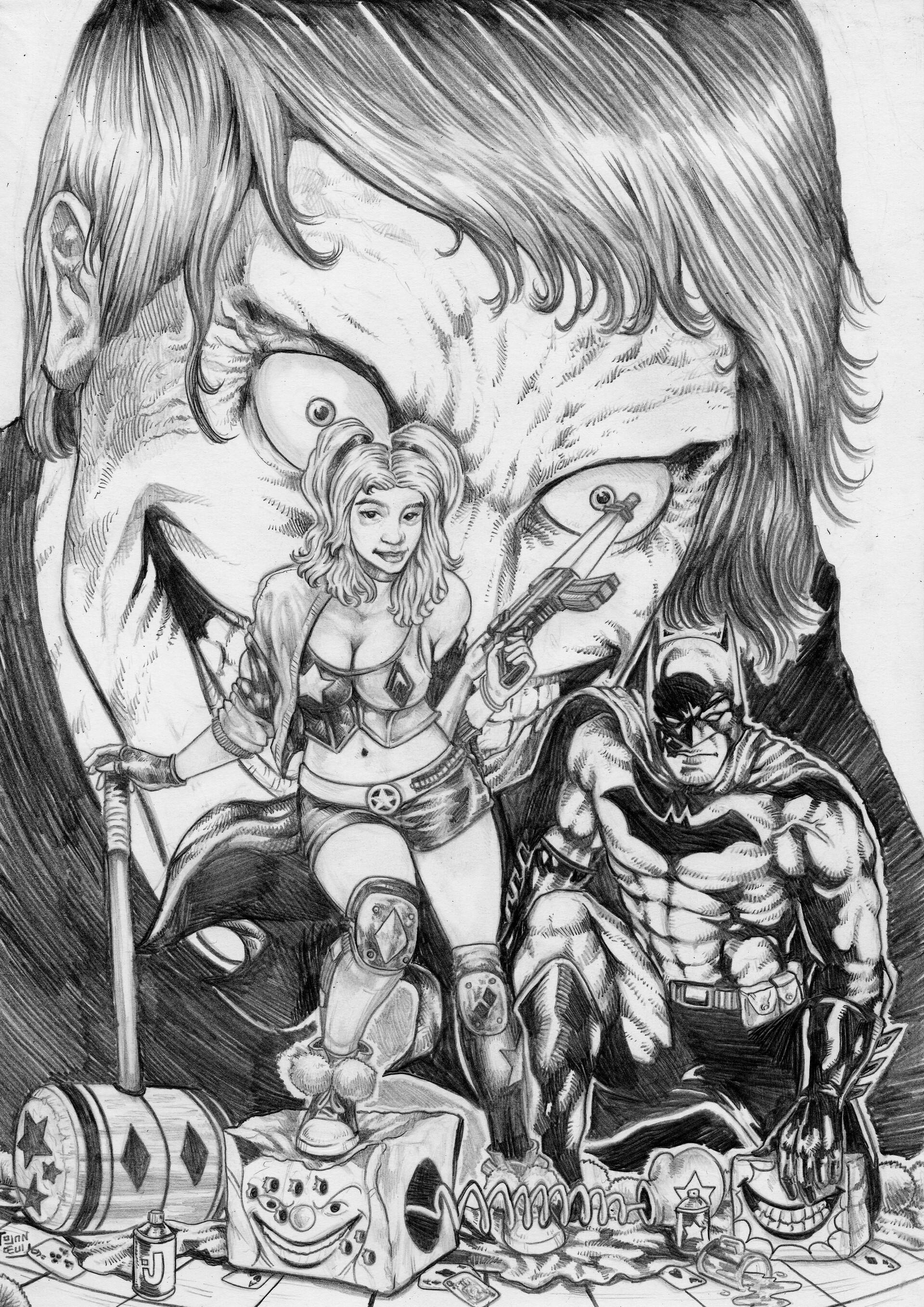 Artstation Original Pencil Fan Art Dc Comics Harley Quinn Issue 75 Od Ojandeui
