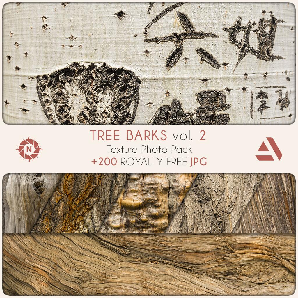 Texture Photo Pack: Tree Barks volume 2  https://www.artstation.com/a/165736