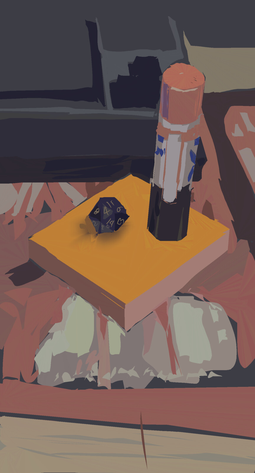 Random desk things. Painted from life.