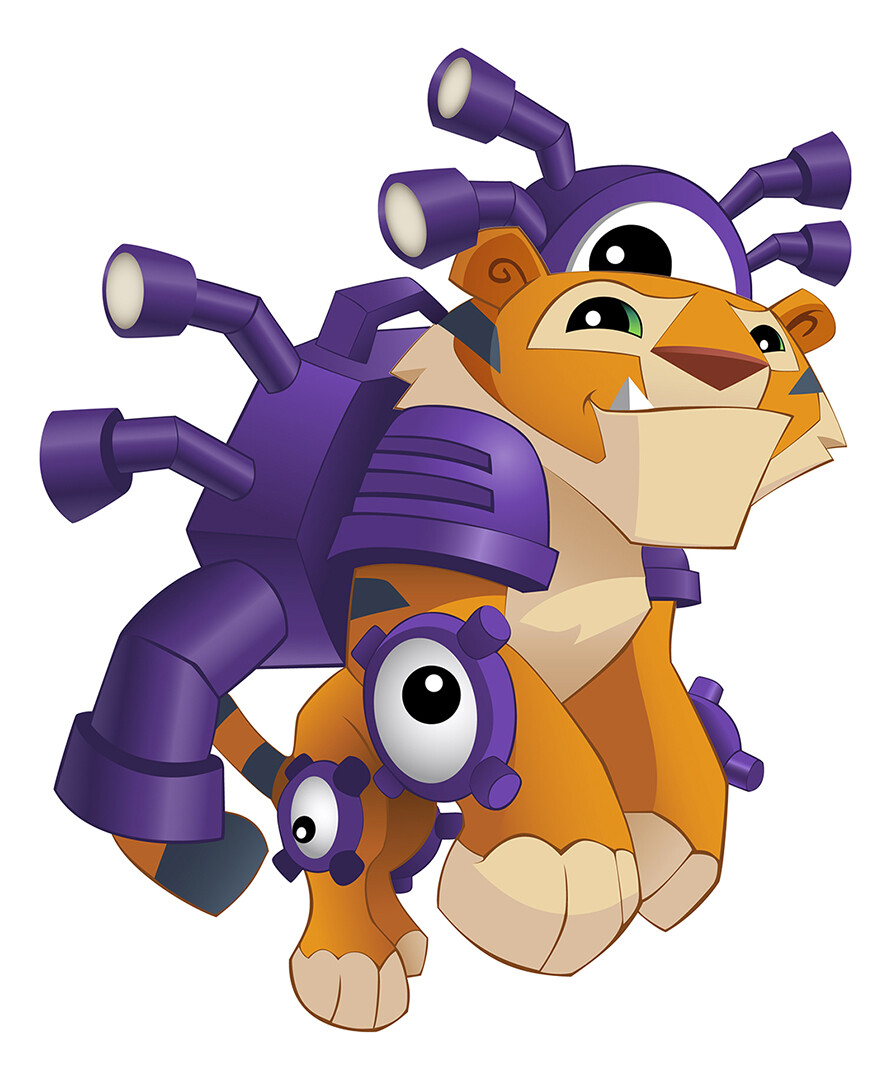 Animal Jam: Tiger Jet Pack (vector)