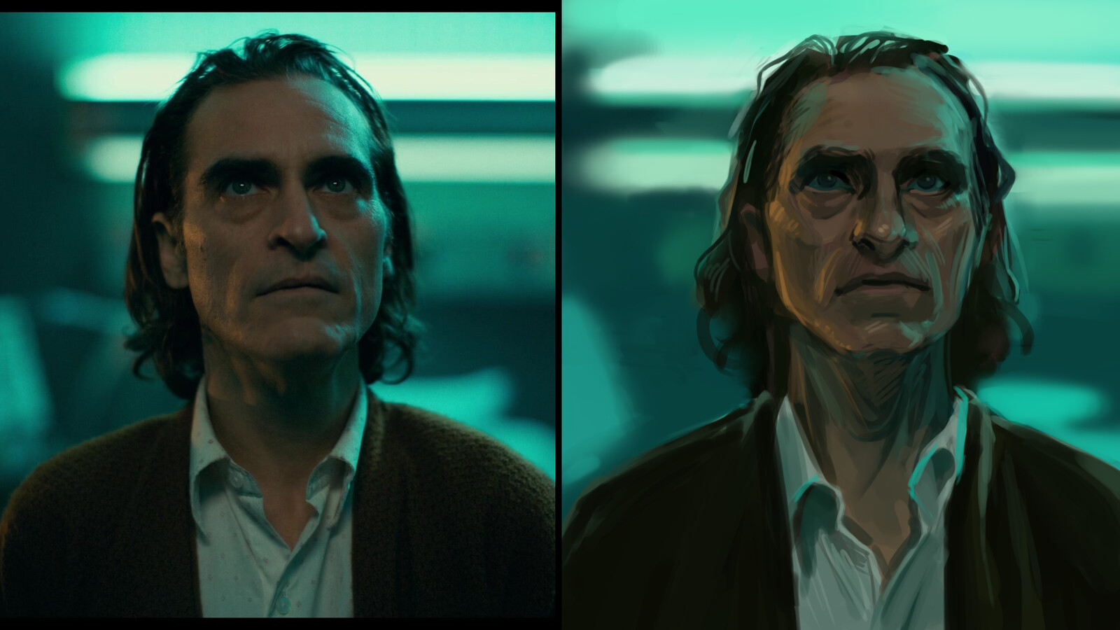Study of Joaquin Phoenix from Joker. Around 90-100 minutes.