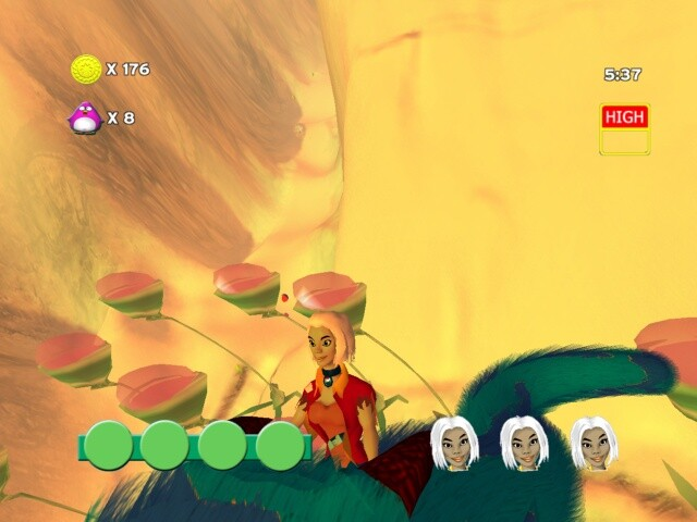 Closeup of the characters in the game.