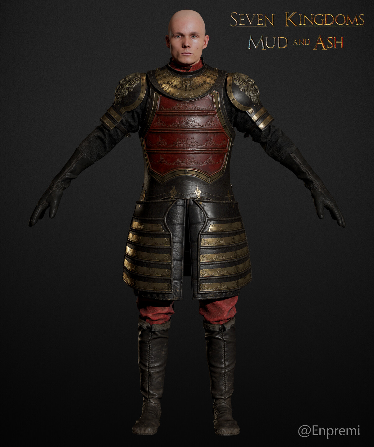 Full A-posed character rendered in MT3