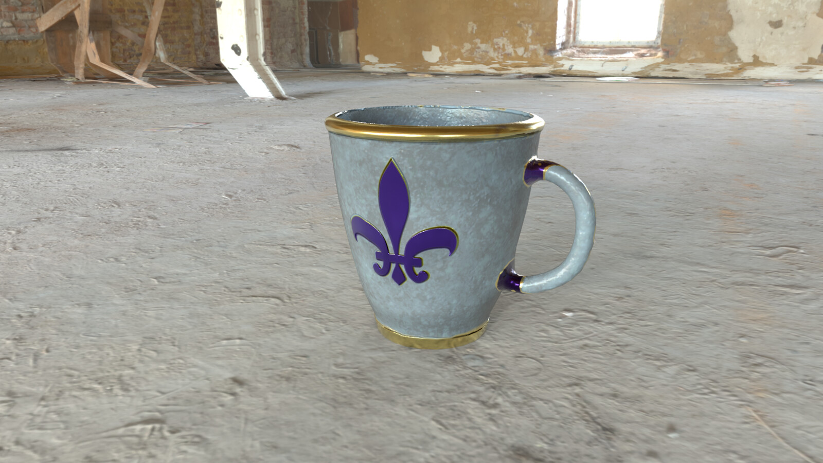 3D Cup Substance Iray Render