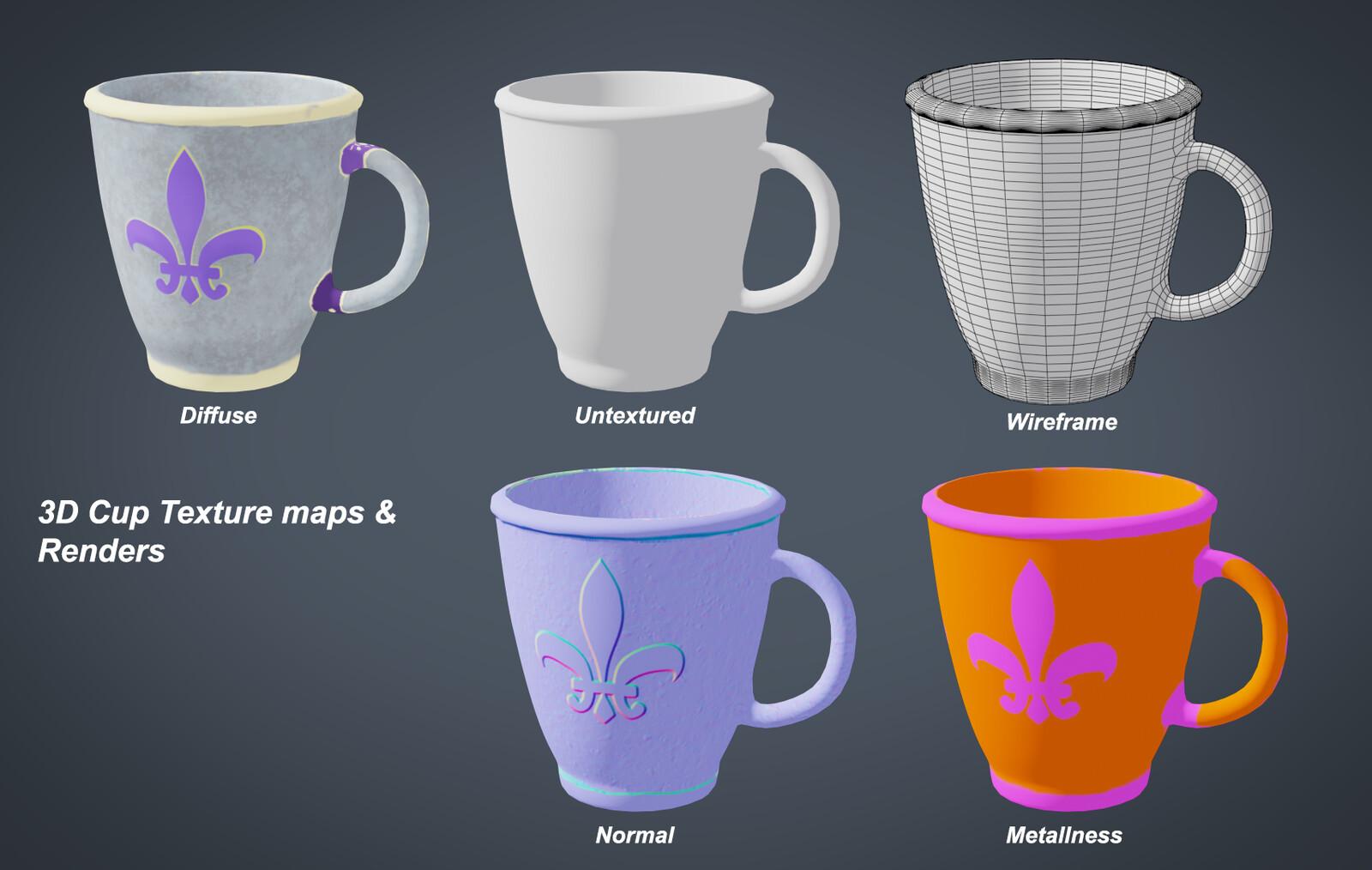 3D Cup Renders & Maps