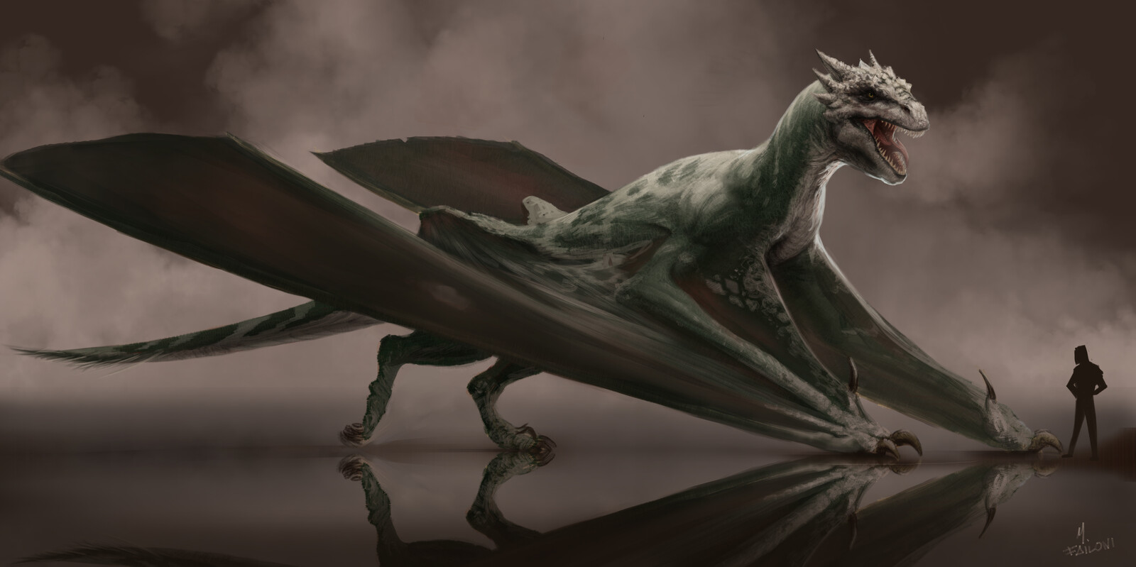 De Draconum Natura: Eudraco occidentalis (Heraldic dragon)