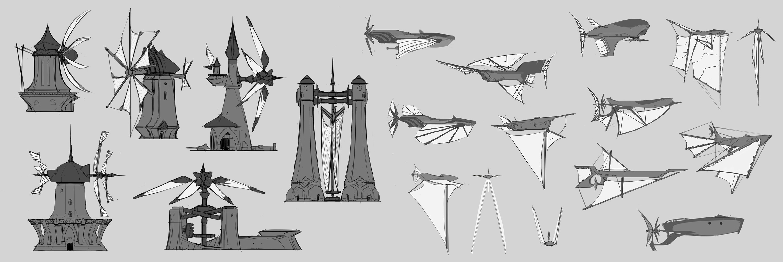 Early design drawings