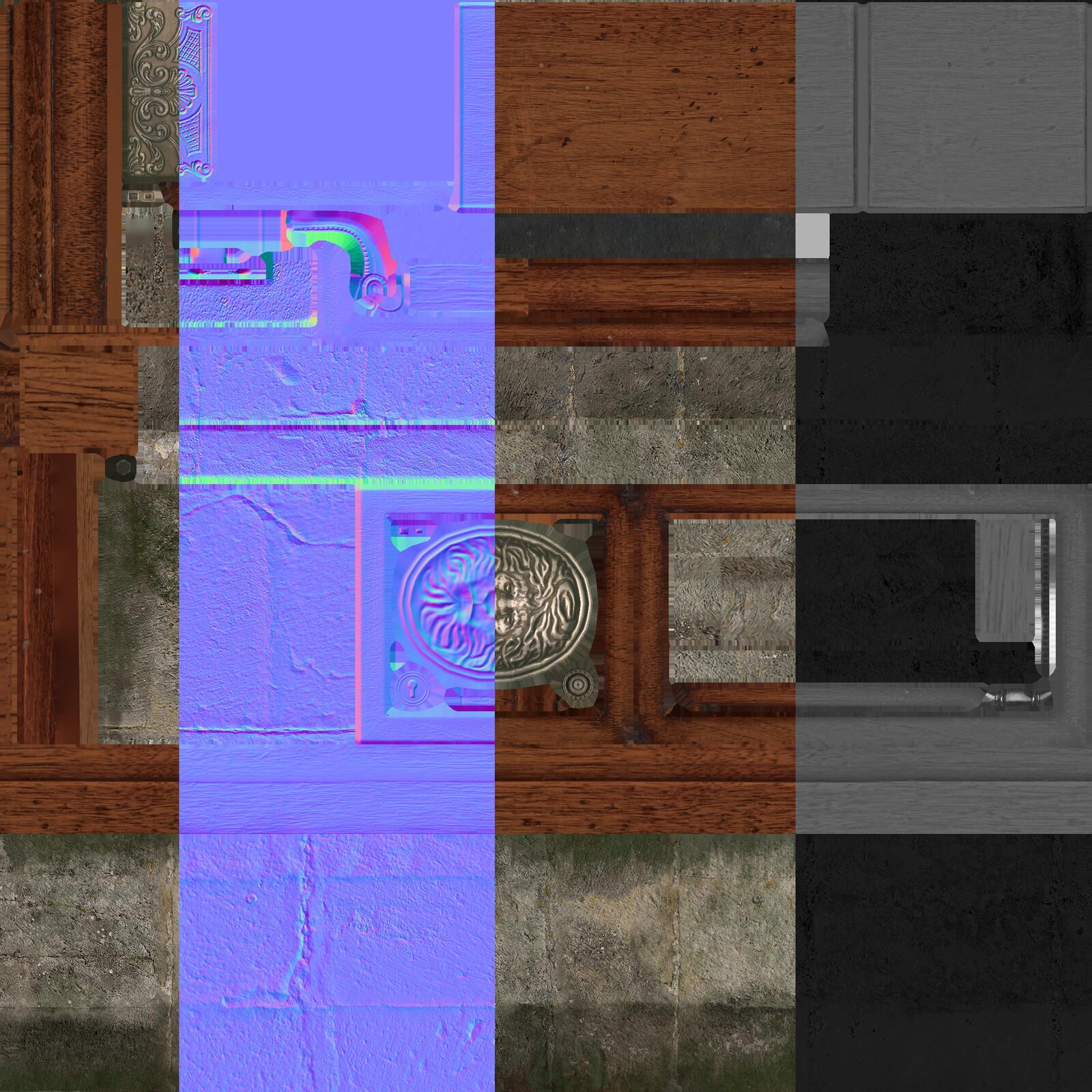 2048x2048 texture, 1024 p/m texeleration, Trim technique