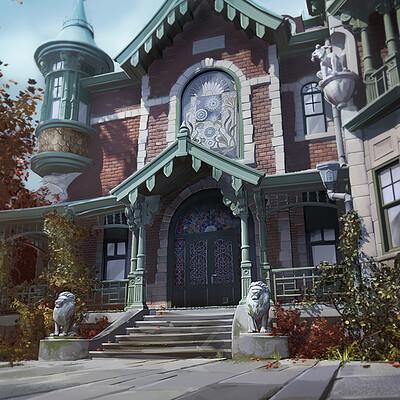 Amandine aramini amandine aramini ench house ext entrance retakes r