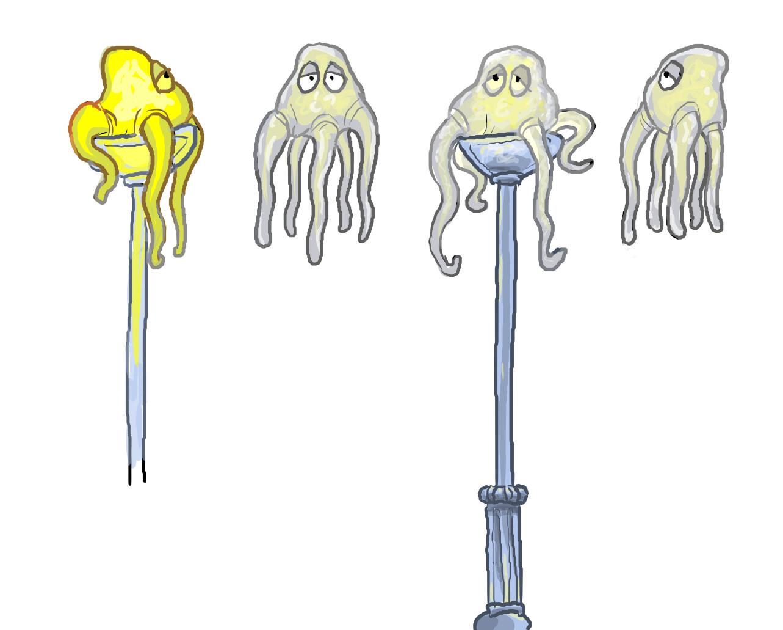 Concept art for Lamp Squid