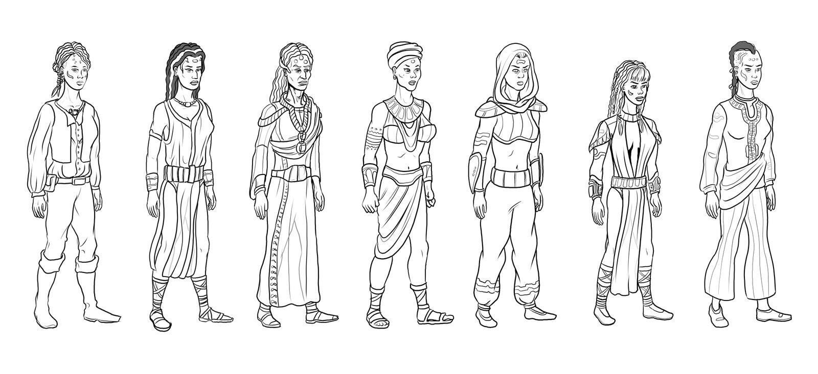 Character design sheet 3