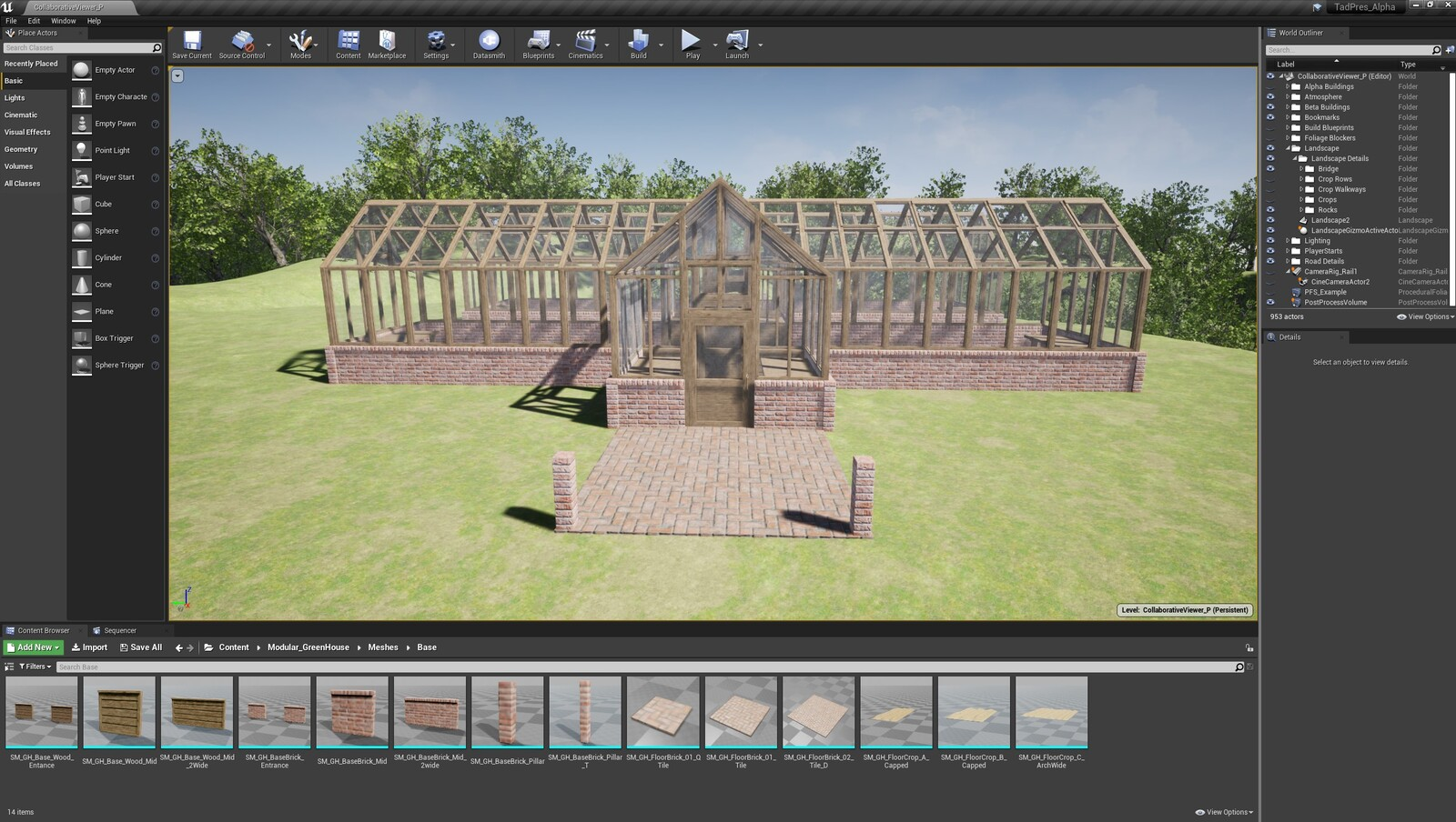 The first angle for the TAD Presentation Greenhouse (Modular Version)