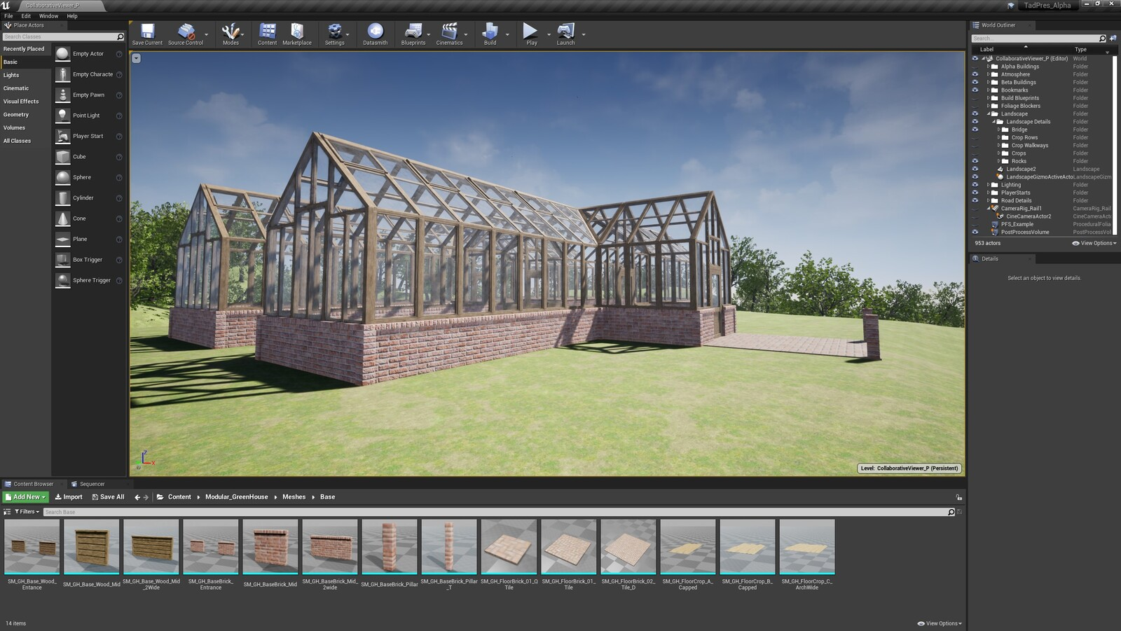 The second angle for the TAD Presentation Greenhouse (Modular Version)