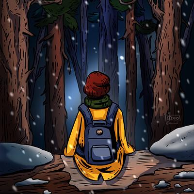 Oixxo art 2020 10 28 winter forest