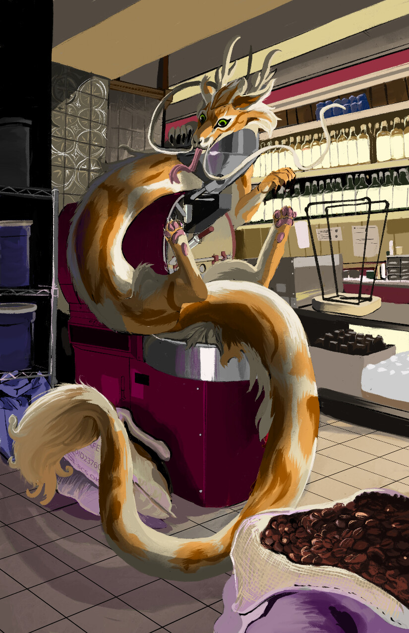 Coffee Roaster noodle Dragon