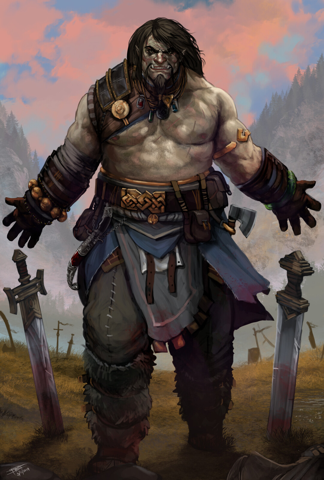 Half Orc Barbarian