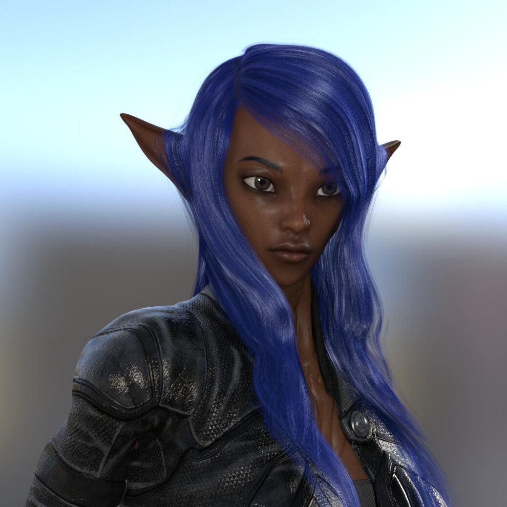 Aliena .  Her eyes, ears, hands and feet are big and she will kick your ass.  She is responsible for security of her planet, her sisters and auntie. Her knowledge of chemicals, physics and various natural laws of more than 5 million planets and galaxies i
