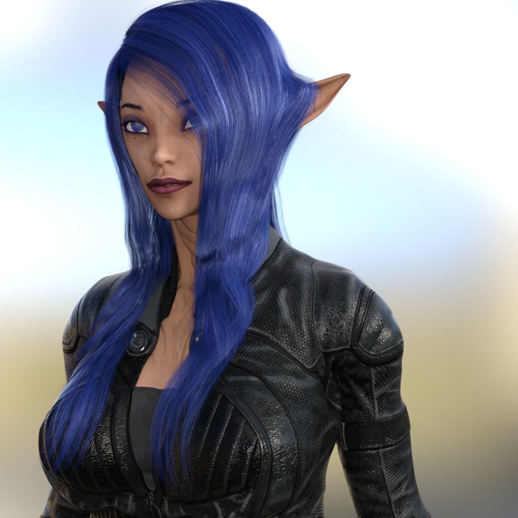 Alienac is a sister of Aliena and Alienab.  Her family and home planet relies on her for public relations, communications and removing language dialect barriers.