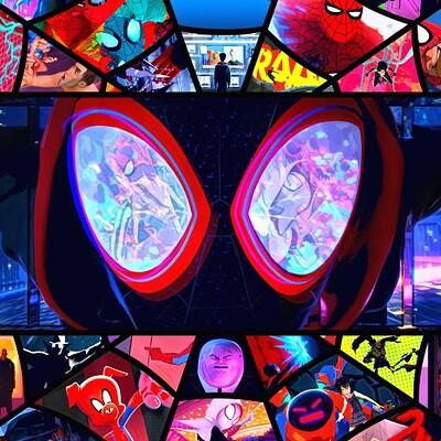 Andrew sebastian kwan spiderverse retro poster watermark web