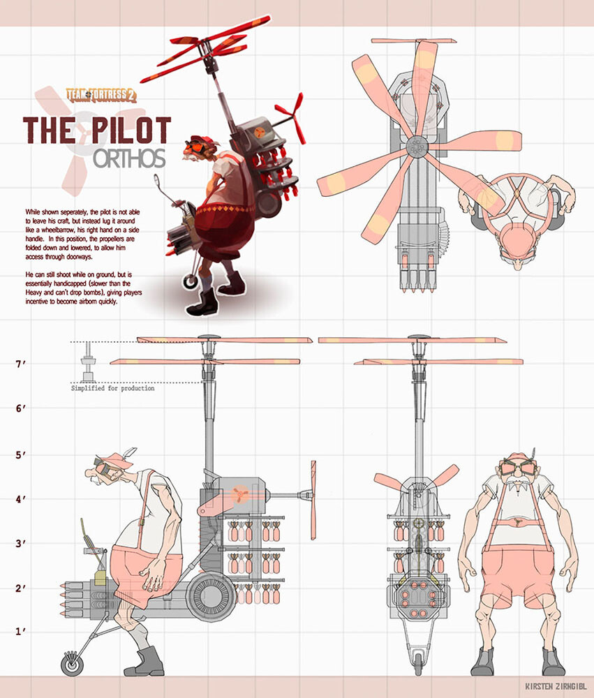 Having a flying character would have broken TF2 levels, hah, but did it for the lulz as part of a workshop in 2011.