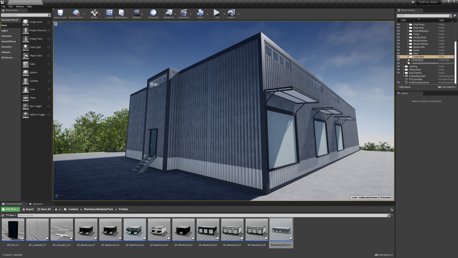 The first angle for the TAD Presentation Facility (Modular Version)