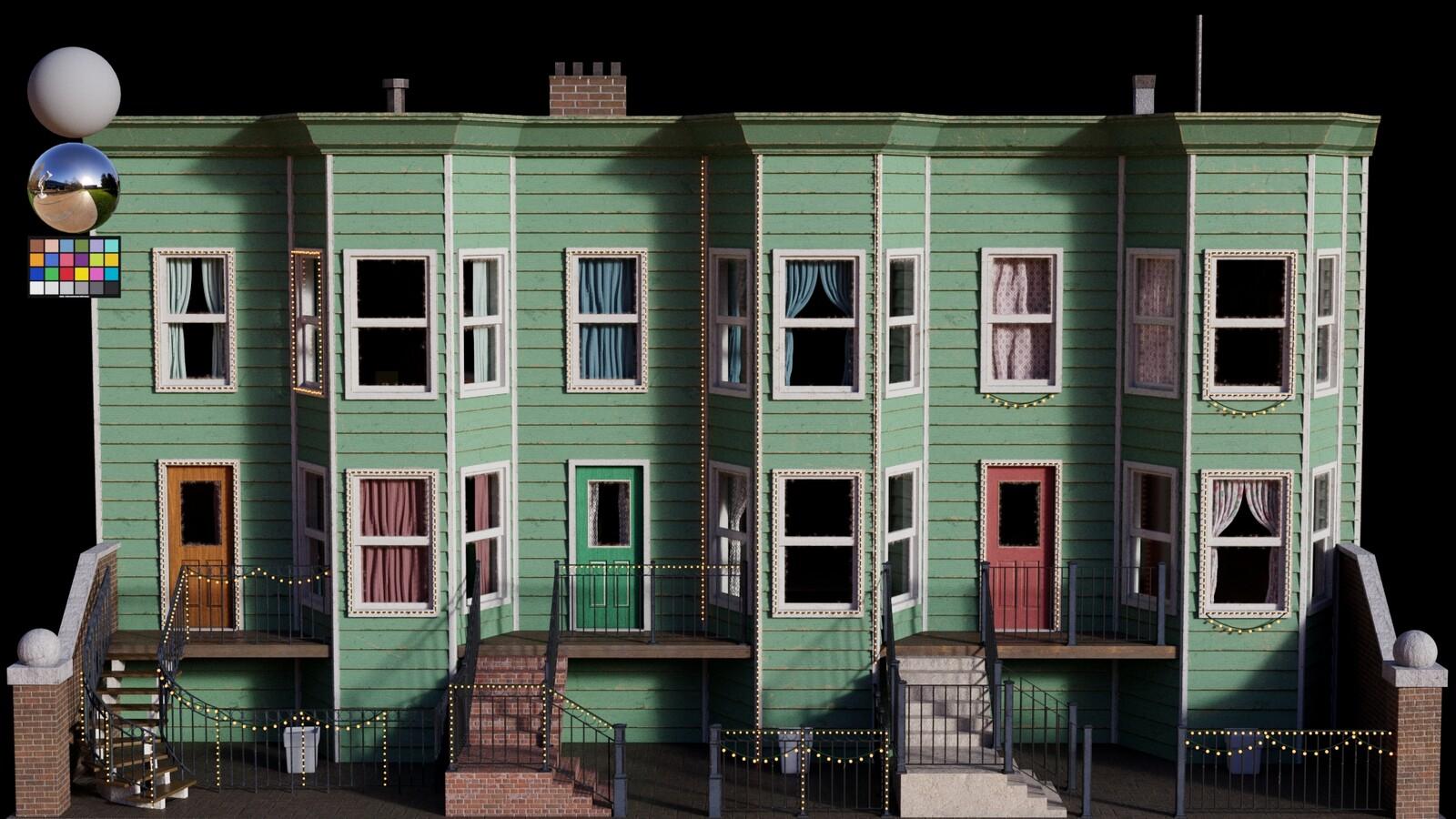 Lookdev - Houses A